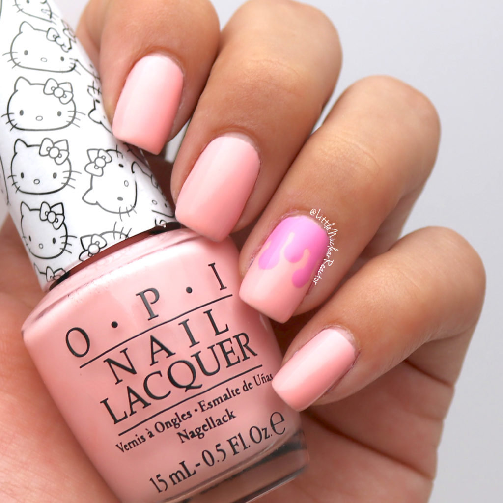 Cream Nail Art: Pink Ice Cream And Sprinkles Nail Art
